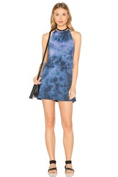 Spiritual Gangster Halter Mini Dress Blue