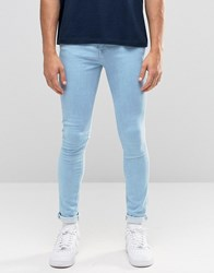 New Look Super Skinny Jeans In Bleach Wash Pale Blue