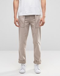 Asos Skinny Smart Trousers With Pockets In Light Grey Silver Cloud
