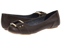 Dr. Scholl's Frankie Dark Brown Savory Women's Flat Shoes