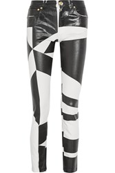 Versus Coated Low Rise Skinny Jeans White