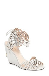 Women's Klub Nico 'Moxie Pure' Wedge Sandal Silver Leather