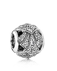 Pandora Design Pandora Charm Sterling Silver And Cubic Zirconia Oriental Fan