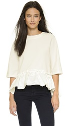 English Factory Flounce Blouse White
