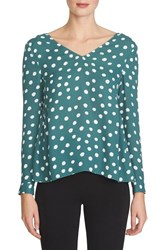Women's 1.State Side Gather Print Blouse