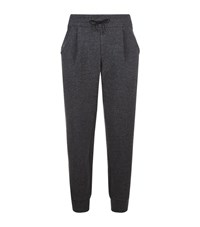 Emporio Armani Tapered Wool Blend Joggers Male Charcoal