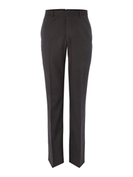 Chester Barrie Plain Tailored Fit Suit Trousers Charcoal