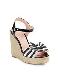 Kate Spade Darya Wedge Sandals Black White