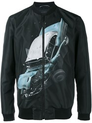 Christopher Kane Car Crash Bomber Jacket Black