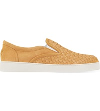 Bottega Veneta Dodger 2 Intrecciato Suede Trainers Peach