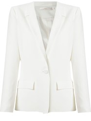 Andrea Marques Panelled Detail Blazer White