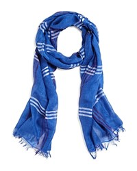 The Men's Store At Bloomingdale's Windowpane Scarf Blue