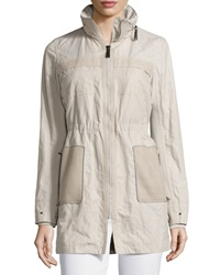 Elie Tahari Juliana Zip Front Coat