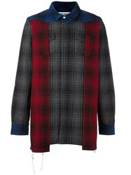 Off White Checked Concealed Fastening Shirt Multicolour