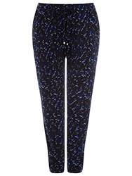 Windsmoor Abstract Print Jersey Trousers Blue Multi