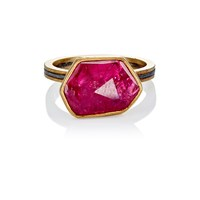 Judy Geib Ruby Slice And Pave Ring