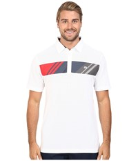 Travis Mathew Knot Polo White Men's Short Sleeve Pullover