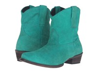 Roper Shania Turquoise Suede Cowboy Boots Blue