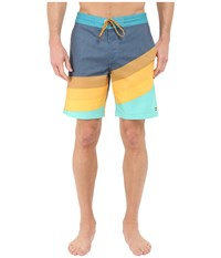 Billabong Slice Lo Tides 19 Boardshorts Aqua Men's Swimwear Blue