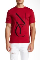 Saturdays Surf Nyc Nyc Stencil Crew Neck Tee Red