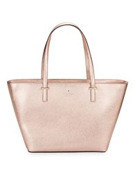 Kate Spade Textured Leather Tote Handbag Rose Gold