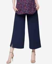 A Pea In The Pod Maternity Wide Leg Pants Navy