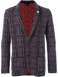 Lardini Tweed Blazer Black