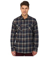 Hurley Dri Fit Bailey Long Sleeve Woven Top Obsidian Men's Long Sleeve Button Up Brown