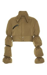 Ellery Wheels Bubble Sleeve Jacket Tan