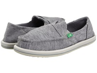 Sanuk Pick Pocket Fleece Light Grey Women's Slip On Shoes Gray