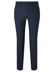 John Lewis Prince Of Wales Check Tailored Wool Trousers Navy