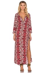 Gypsy 05 Printed Lace Maxi Dress Red