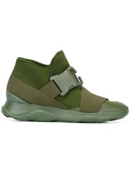 Christopher Kane Buckled Detail Sneakers Green
