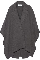 Chalayan Leather Trimmed Wool Blend Poncho