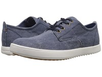 Hush Puppies Roadside Oxford Pl Navy Canvas Men's Slip On Shoes Blue