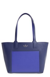 Kate Spade New York Jones Street Small Posey Reversible Leather Tote Blue Sapphire Nightlife