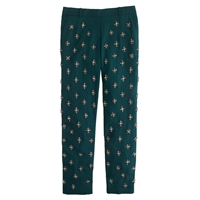 J.Crew Collection Cafe Capri In Embellished Wool Crepe Pack Green