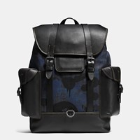 Coach Gotham Backpack In Wild Beast Print Denim Bp Denim Wild Beast