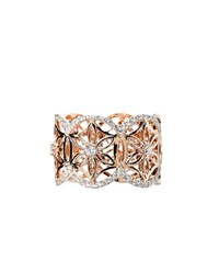 Dionea Orcini 18K Rose Gold Diamond Mini Semiramis Ring Rose Gold White Champagne
