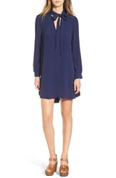 Astr Women's 'Delia' Tie Neck Shirtdress