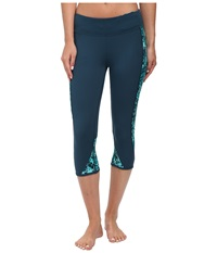 Hurley Dri Fit Crop Leggings Radiant Emerald Women's Workout Green