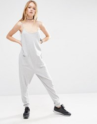 Asos Lounge Jersey Jumpsuit Grey