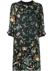 Antonio Marras Floral Print Shift Dress Black