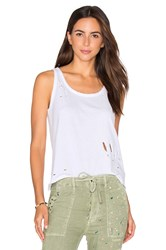 Sundry Texture Jersey Scoop Tank White