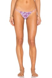 For Love And Lemons Tiny Tanlines Bikini Bottom Purple