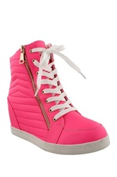 Liliana Sue Sneaker Wedge Pink