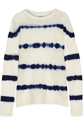 Banjo And Matilda Striped Open Knit Sweater White