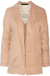 By Malene Birger Mey Melange Linen Blend Twill Blazer Orange