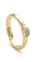 Monica Rich Kosann Wish Moonstone Cabochon Ring Moonstone Gold