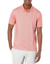 Perry Ellis Striped Performance Polo Faded Rose